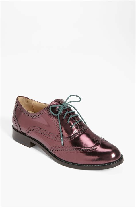 oxford shoes cole haan cole haan skylar oxford in purple mirrored pinot noir lyst