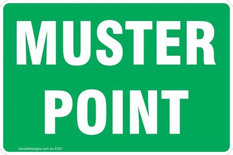 Muster Point Muster Point Safety Signs Stickers Emergency
