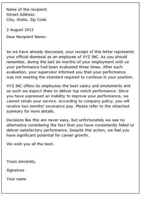 Reference Letter After Dismissal Dismissal Letter Sle 2