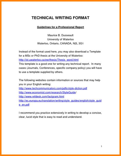 how to write a technical paper 10 exle of technical report writing emt resume