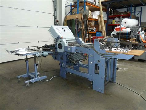 Stahl Paper Folding Machine - folders used finishing machines stahl t49 4x paper folding