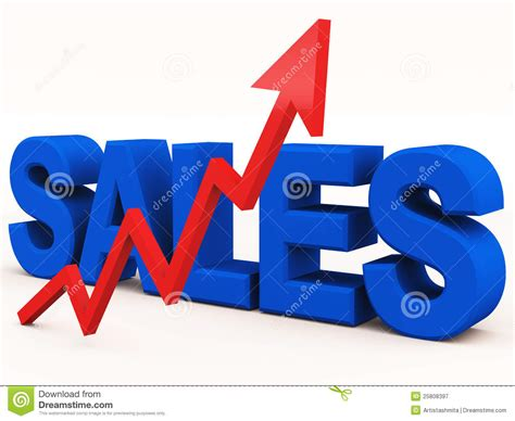 sales of sales rising stock illustration image of revenue