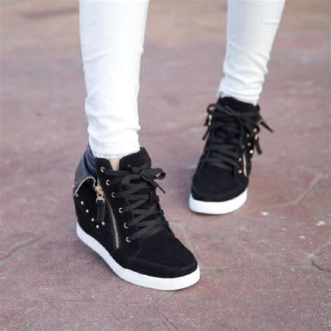 Sepatu Boots Heels Wanita Cewek Hitam Sbo99 Favos Store jual sepatu boots wanita hitam sbo310 favos store casual boots kets sneaker flat shoes high