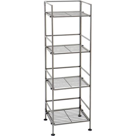 storage shelves walmart seville classics 4 tier square iron shelf she04125 walmart