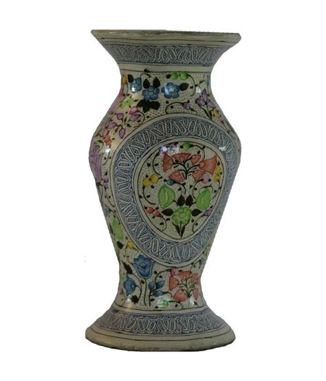 Handicraft Flower Vase by Kashmiri Paper Mache Handicraft Flower Vase Buy Kashmiri