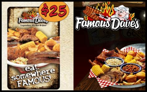 Famous Dave S Gift Card - wow amazing new raffle prizes added fabulessly frugal