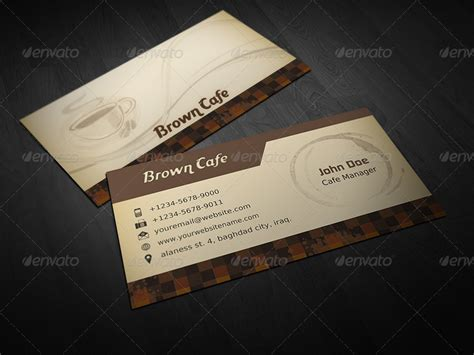Coffee Shop Business Card Template by Coffee Shop Business Card Template By Owpictures