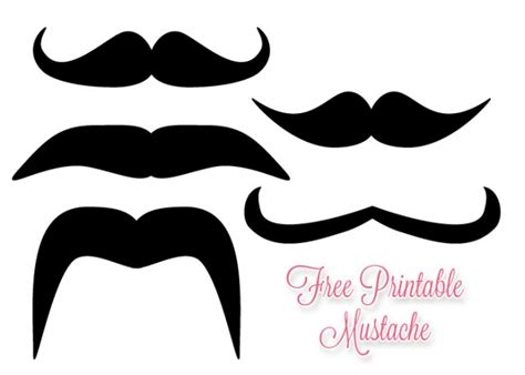 mustache print out template mustache cut out template clipart best