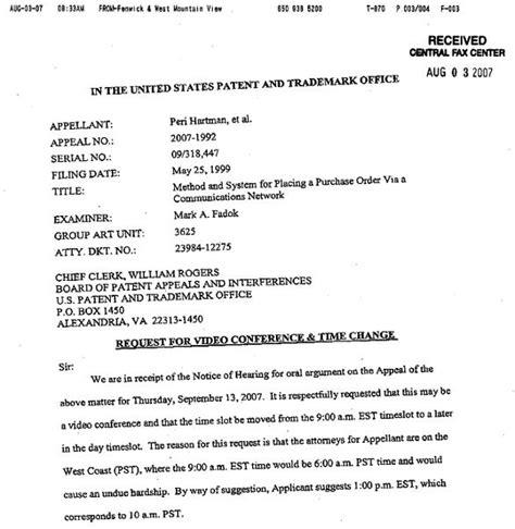 Undue Hardship Letter Uspto Imposes Undue Hardship On 1 Click Lawyers Slashdot