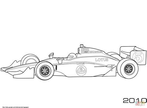 Formel 1 Auto Malen by Dibujo De Coche Indy Takuma Sato En Un Lotus 2010 Para