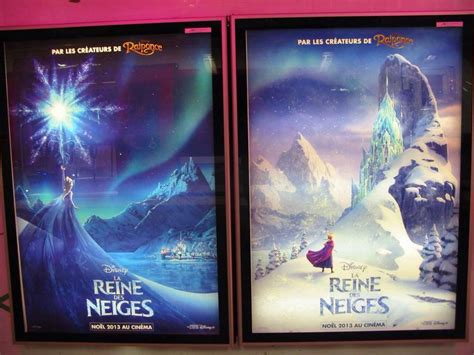 frozen french poster elsa and anna photo 35932156 fanpop frozen posters at gare du nord train station in paris