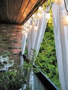 am 233 nagement balcon vis 224 vis protection d 233 co guirlandes