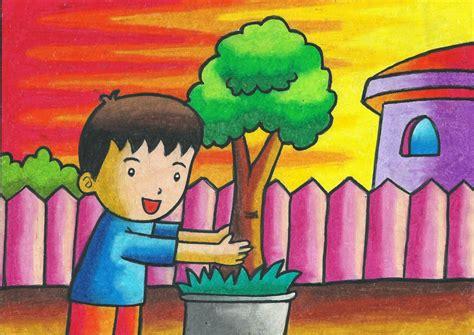 Alat Gambar Crayon Putar Roling Karakter program materi sanggar gambar azalia
