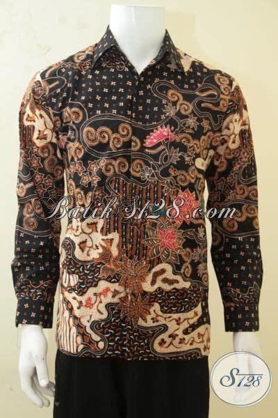 Kemeja Batik Pria Terbaru Lengan Panjang Mewah Elegan kemeja lengan panjang klasik istimewa baju batik elegan