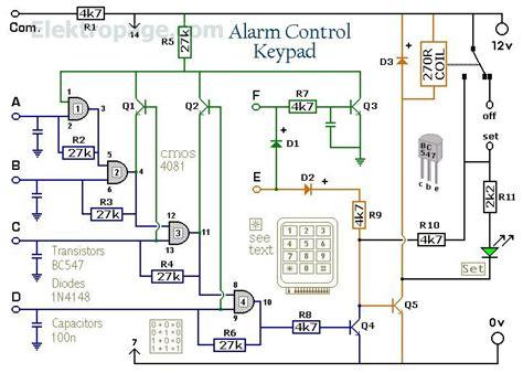 Remote Switch 4 Jalur enhanced 4 digit alarm keypad schematic circuits enhanced