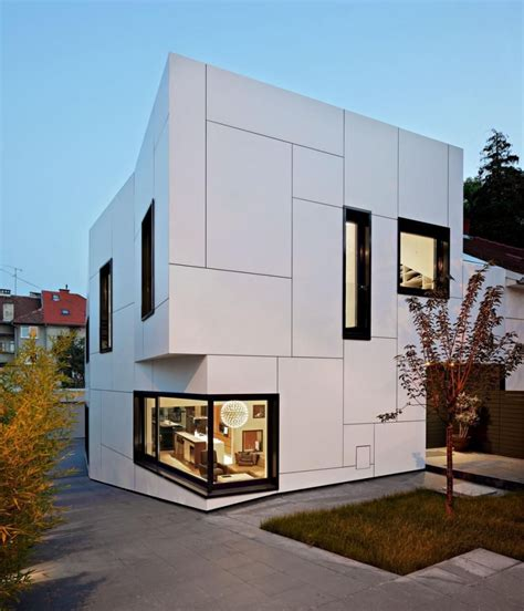 outside wall designs box shaped house design with elegant exterior wall white