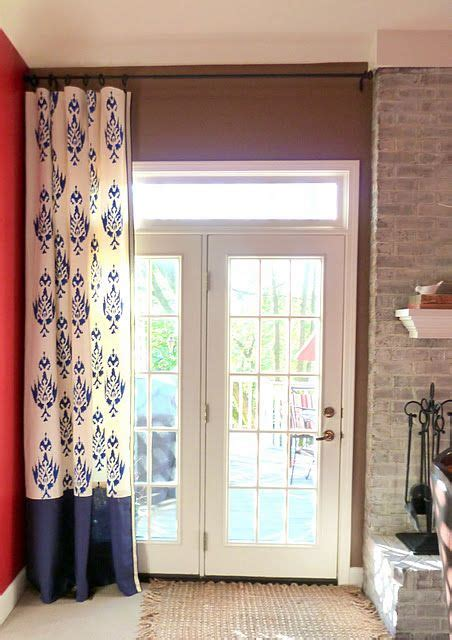 how to hang curtains on french doors 17 best images about french door curtains on pinterest
