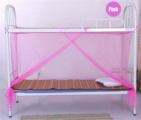 Bunk Bed Canopies Free Shipping Four Corner Canopy Students Bunk Bed Mosquito Net School College Mesh Screen For