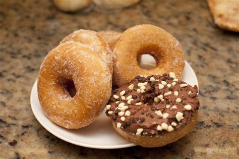 how to donut rings for getting ready before the wedding free stock photo 10410 plate of assorted ring doughnuts