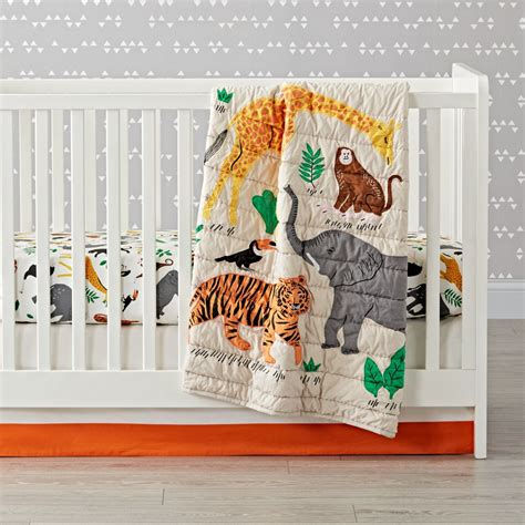 Jungle Animal Crib Bedding Applique Jungle Animal Crib Bedding The Land Of Nod