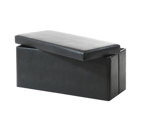 black faux leather ottoman della black faux leather ottoman special offer