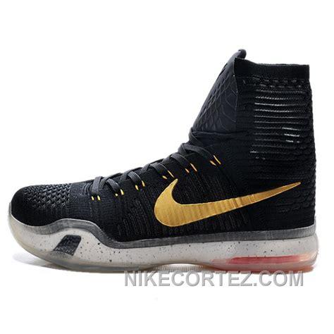 nike 10 s black golden hightop basketball shoes