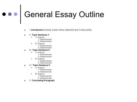 Sentence Of An Essay by Essay Topic Sentence Outline