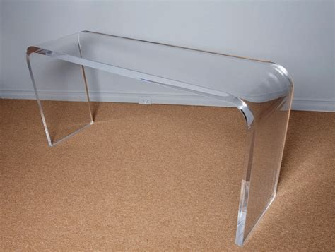 lucite sofa table lucite sofa table narrow console or sofa table in solid