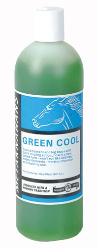 cool green products green cool liniment the horse tack online offering horse tack horse equipment horse supplies