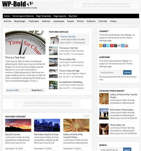wordpress change layout of homepage solostream launches a bold new wordpress theme