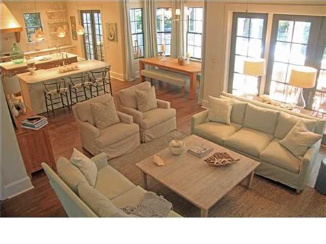 open floor plan living room furniture arrangement open concept layout love the dining nook would be