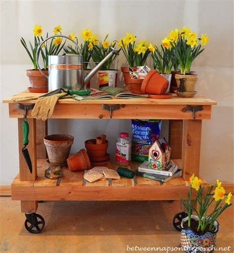 build your own potting bench build your own diy pottery barn inspired potting table and