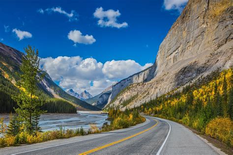 bow valley parkway  stops  banff  lake louise