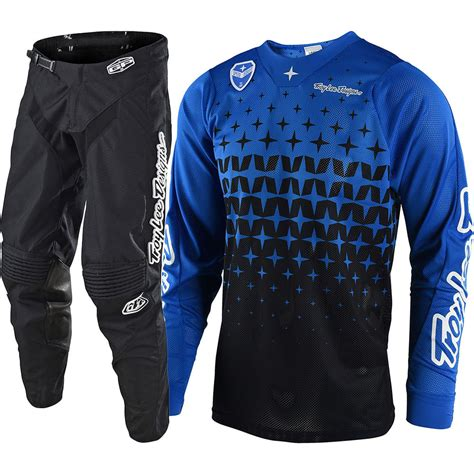 tld motocross gear troy designs 2018 mx megaburst blue jersey black