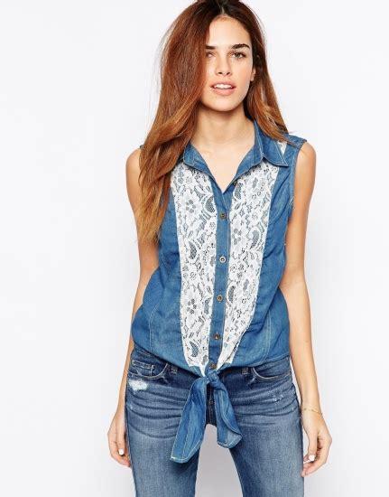Blue Mix Lace Shirt Dress how to wear it lace shirt