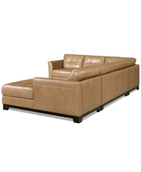 martino leather sofa martino leather 3 piece chaise sectional sofa furniture