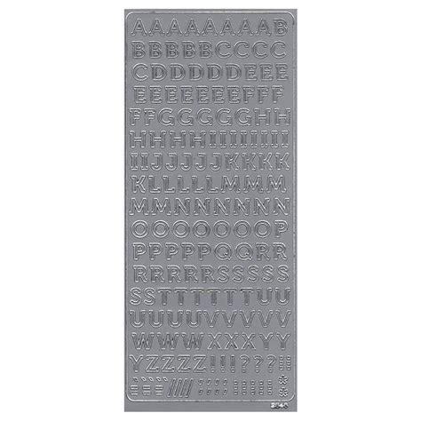 Sticker Buchstaben Silber by Buchstaben Sticker Silber Konturensticker Alphabet Abc