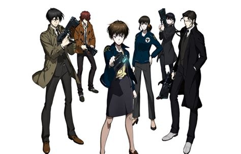 The Psycho From Heroes by The Cast Of Psycho Pass 2 From Left To Right Ginoza Sho