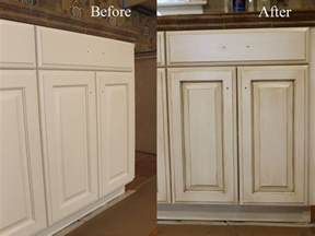 How To Antique Kitchen Cabinets by The Ragged Wren How To Glazing Cabinets