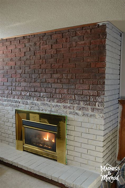 Dry Brush Bricks (Fireplace Makeover)   Madness & Method