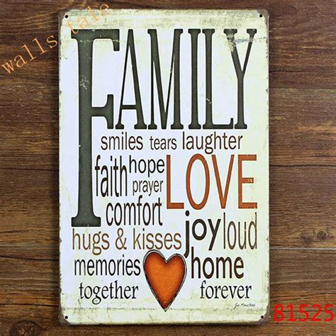 wall decor signs for home retro family tin sign metal plaque vintage home wall decor