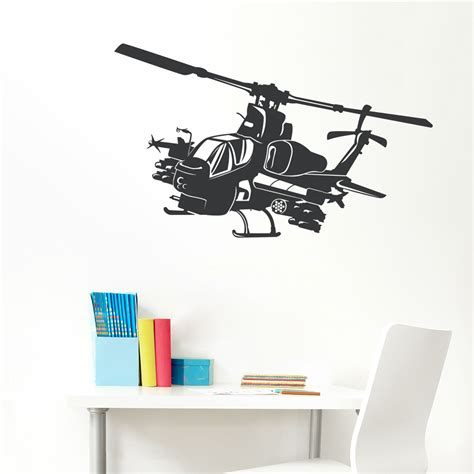 helicopter wall stickers apache helicopter wall decal