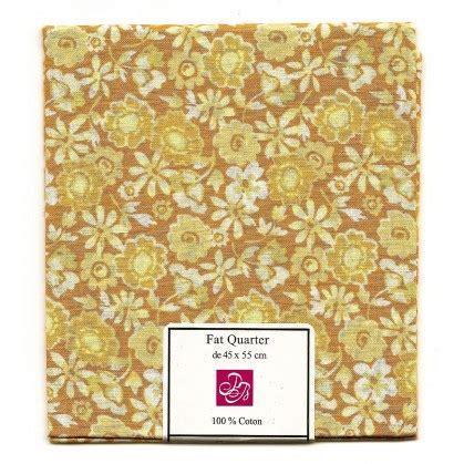 Patchwork Promotions - coupon patchwork imprim 233 fleurs marron clair