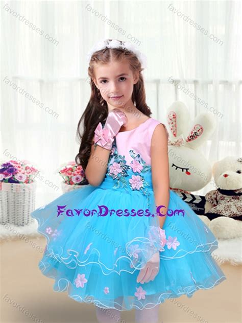 cute scoop short  girl pageant dresses