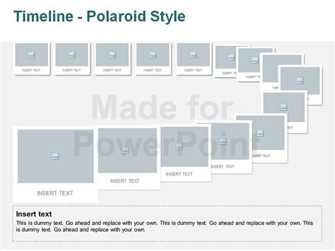 templates for powerpoint timeline timeline polaroid style editable vector graphics