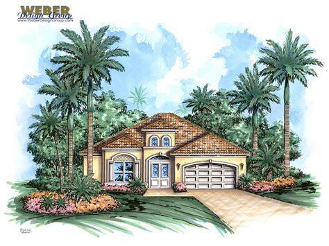 weber design group home plans mediterranean house plan narrow lot golf course home