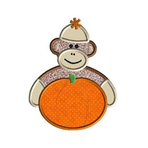 Monkey Applique by Sock Monkey Applique Machine Embroidery Design