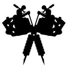 tattoo machine silhouette vector gallery for gt tattoo machine drawing vector logo