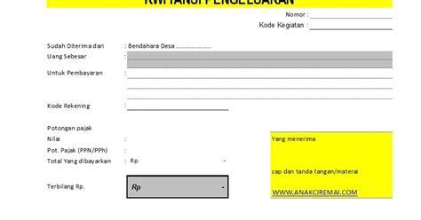 format makalah tanggapan contoh kwitansi untuk lpj keuangan desa anakciremai