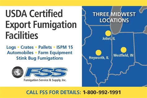 how to get usda certified fss import export containers
